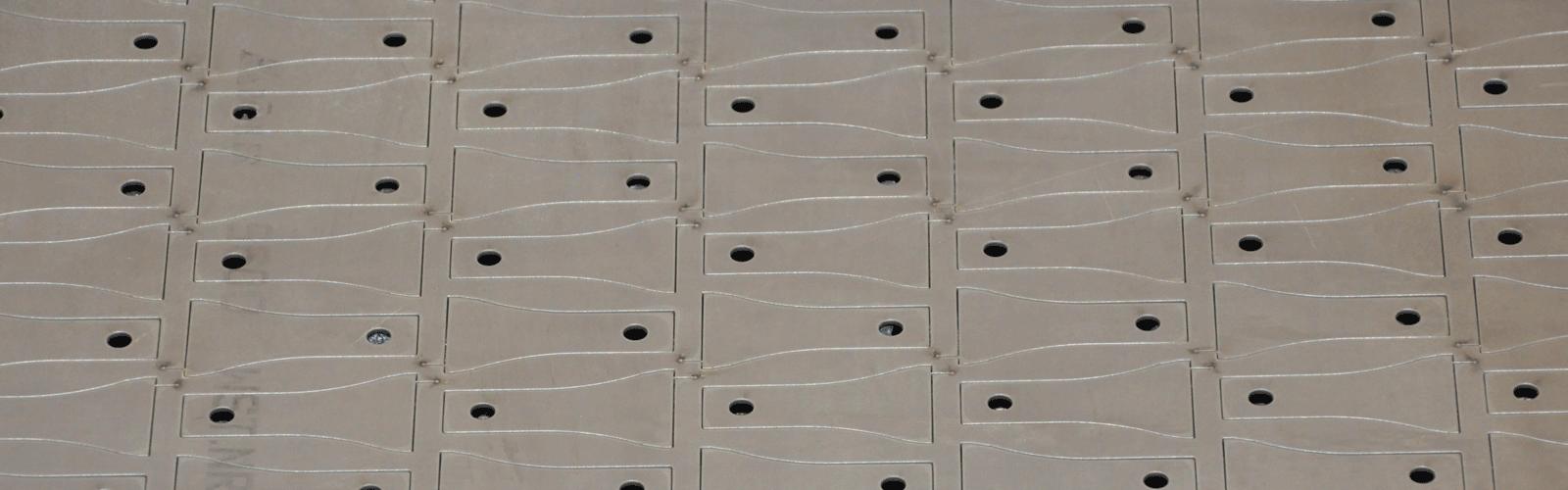 Laserzuschnitt für Granuliermesser